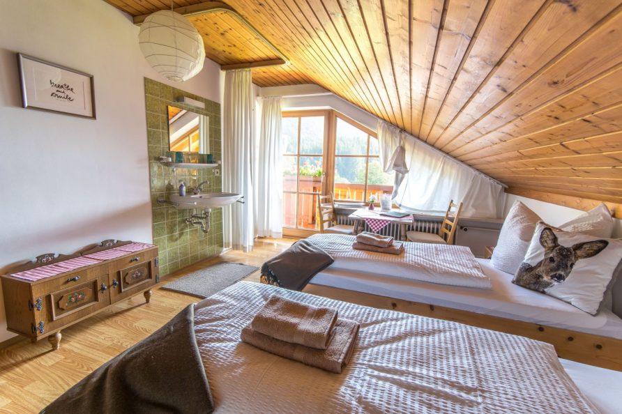 Doppelzimmer im Dachgeschoss